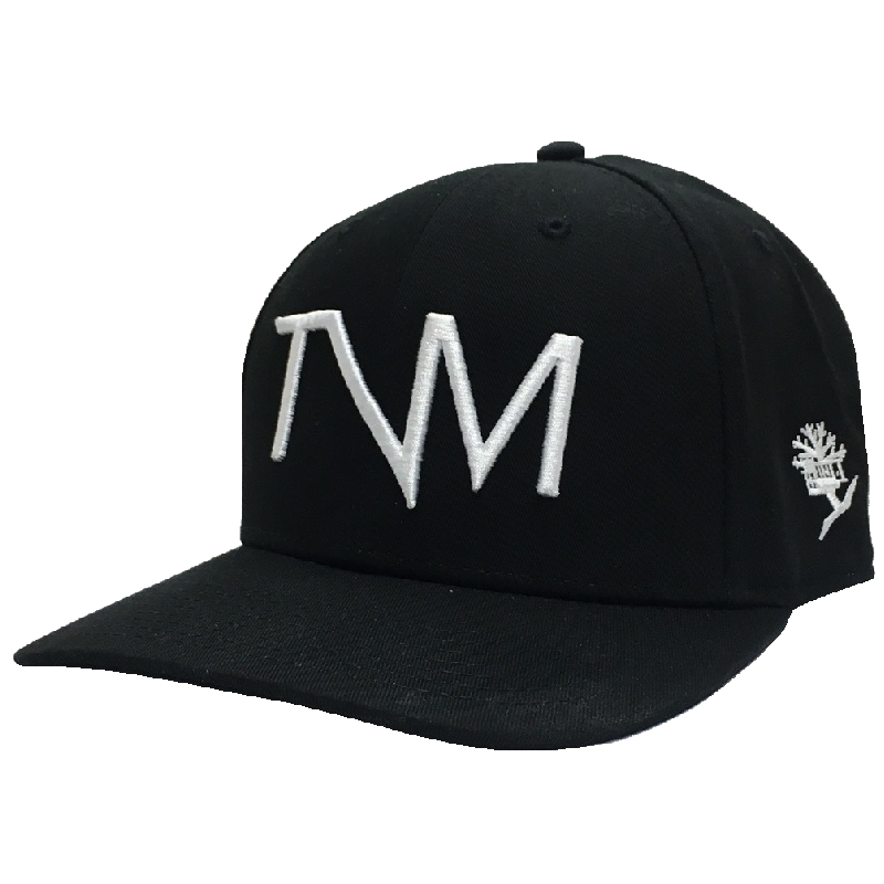 Tree Vibez Music Black TVM Logo Flat-Brim Ballcap