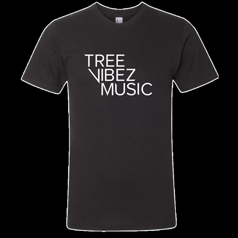 Tree Vibez Music Black Logo Tee