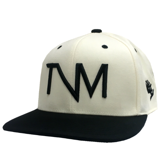 Tree Vibez Music Natural and Black Logo Flat-Brim Ballcap