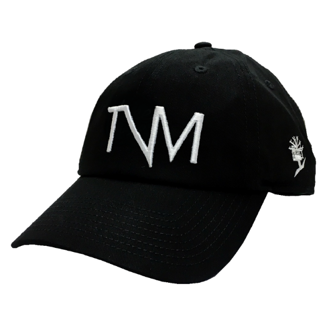 Tree Vibez Music Black Unconstructed TVM Ballcap